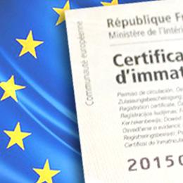 certificats d'immatriculation